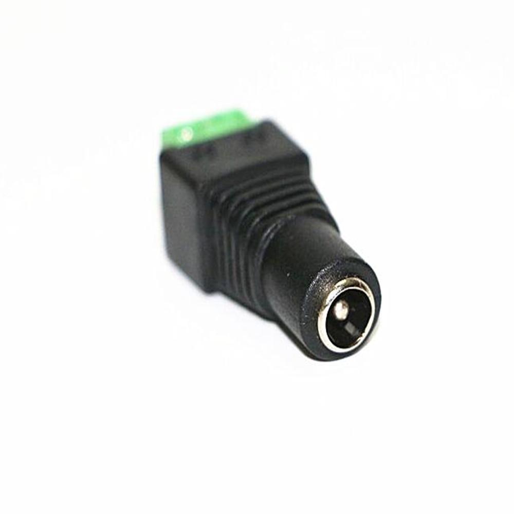 KWB DC Female Power Jack Free Welding LED Strip Adapter Connector 4PCS  BLACK