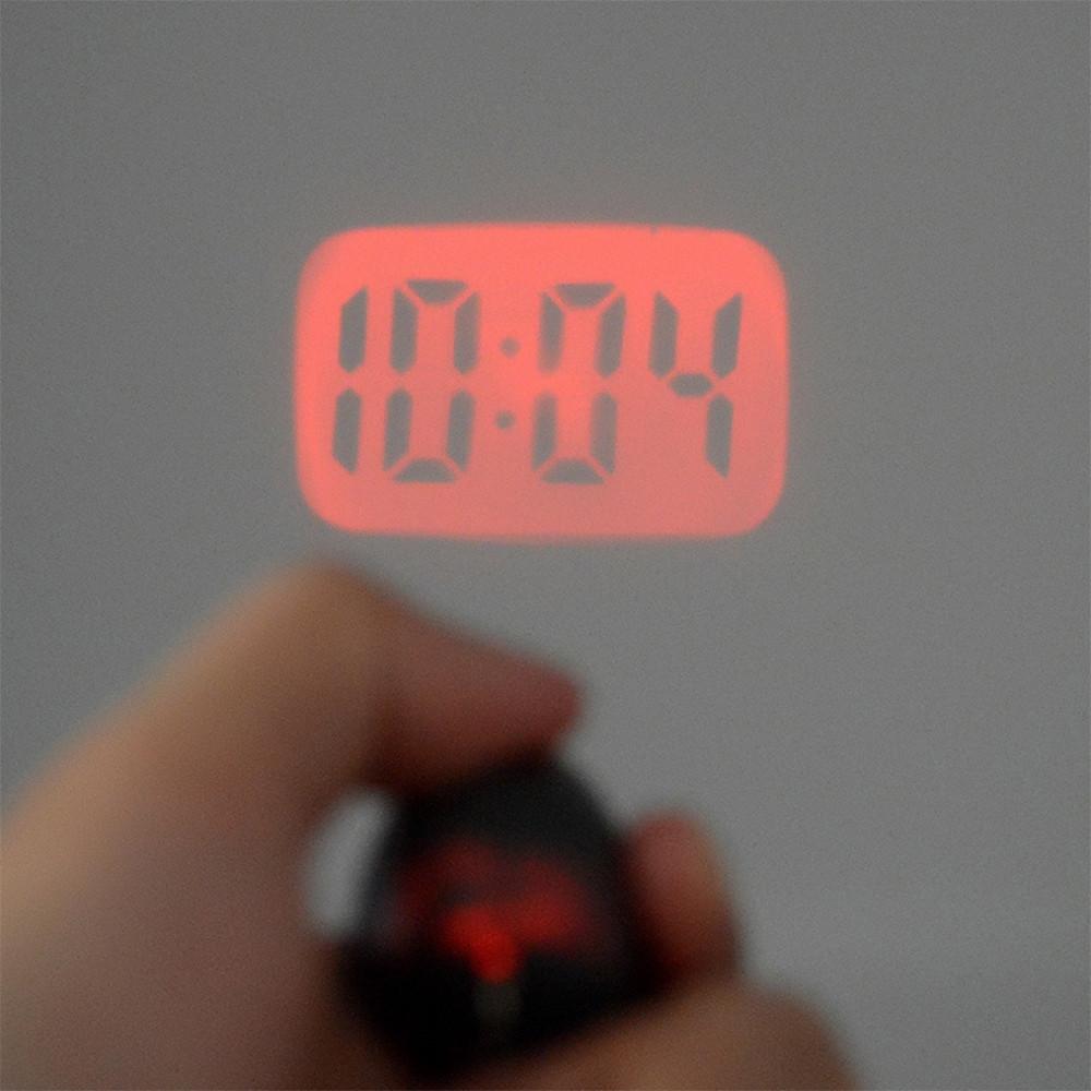 BRELONG Digital projection clock key ring  Mini LCD projection clock BLACK