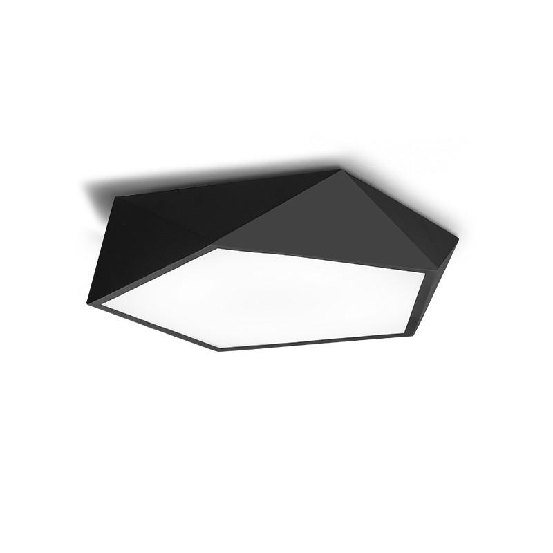 Ever-Flower Max 24W Modern Led Flush Mount Ceiling Light for Living Room Bedroom Painted Finish Black WHITE LIGHT 220 - 240V