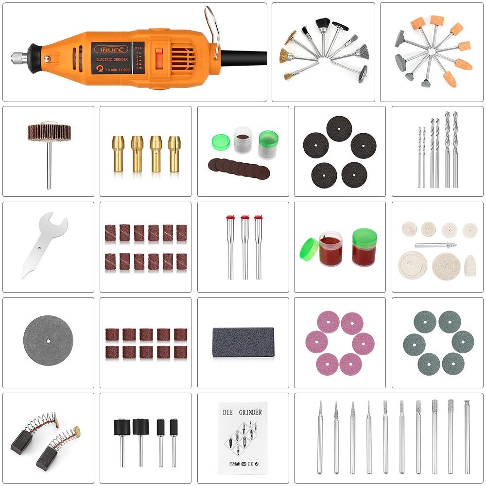 Inlife 01 Electric Handheld Rotary Tool Die Grinder Drill Adjustable Speed