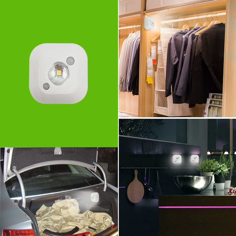 BRELONG  LED Light-controlled Human Sensor Paste Wall Lamp  WHITE