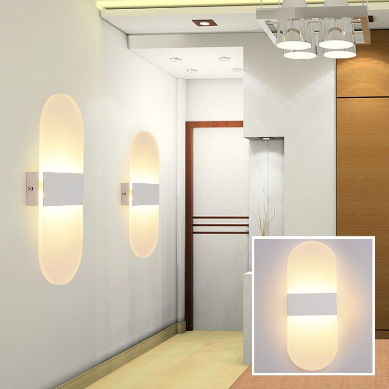 29mm Creative Mini 3W LED Wall Lamp Bedroom Bedside Living Room Balcony Light WARM WHITE LIGHT