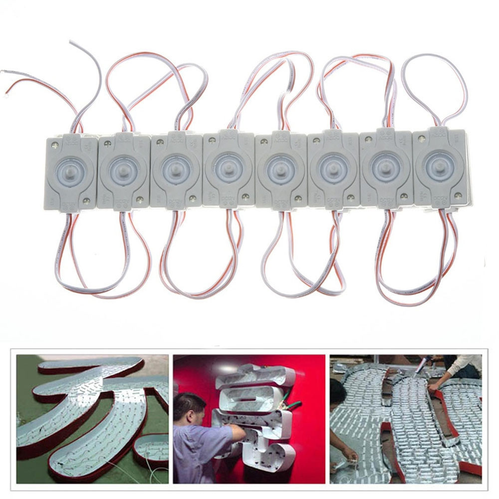 JIAWEN 20PCS /Lot LED Modules 4530 Waterproof DC 12V Injection Signage Advertising Logo Letter Light Strip BLUE LIGHT