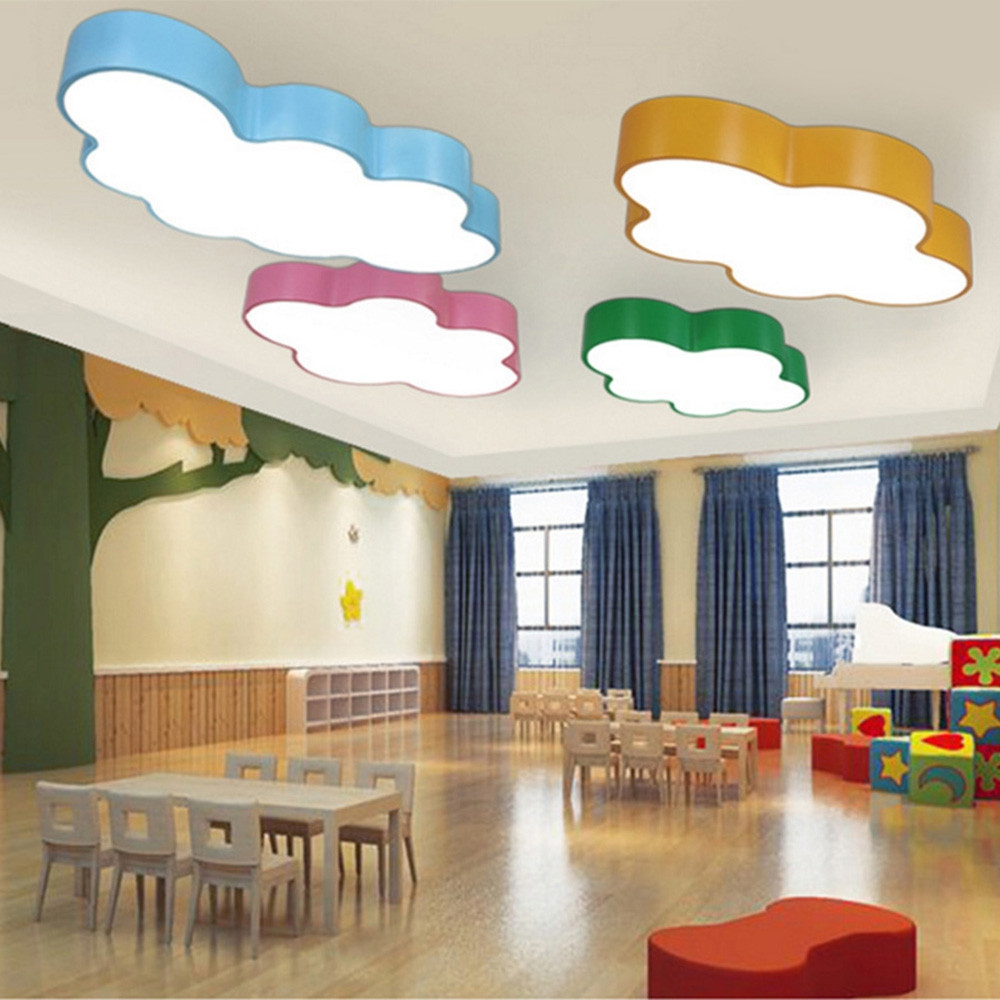 BRELONG LED Cloud Ceiling Light Children's Bedroom Cartoon Lights 60 x 40 x 9cm 36W White Light SKY BLUE