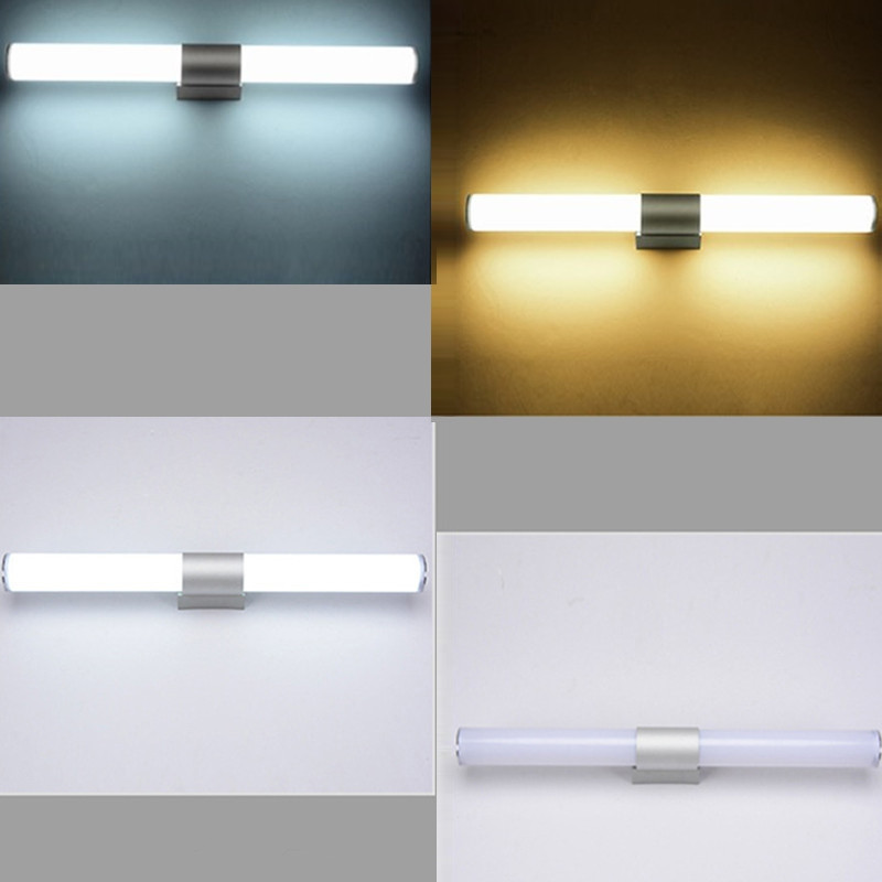 55cm 22W Wall Light Cylinder Stainless Steel Mirror Front Lamp for Bathroom Cabinet WARM WHITE
