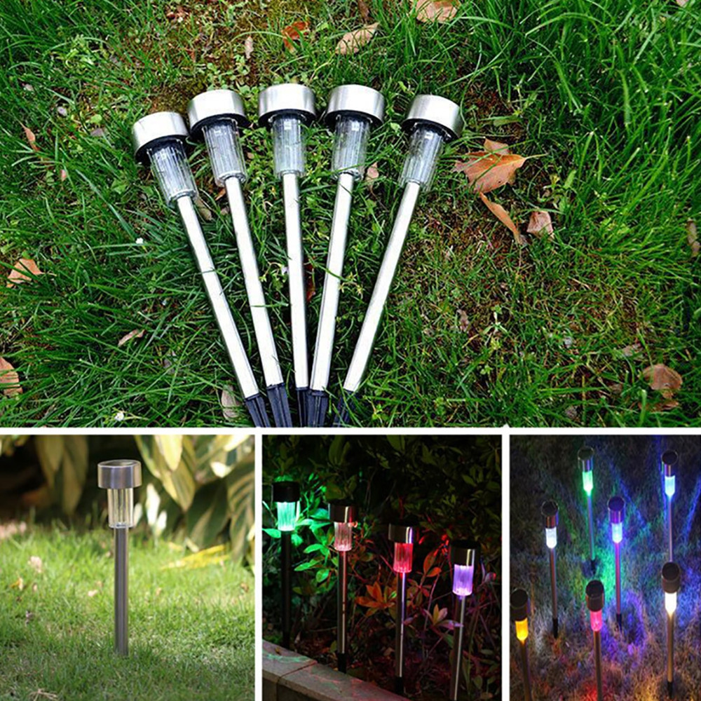 BRELONG LED Solar Lawn Light Control Outdoor Garden Lights 5PCS WHITE COLORFUL