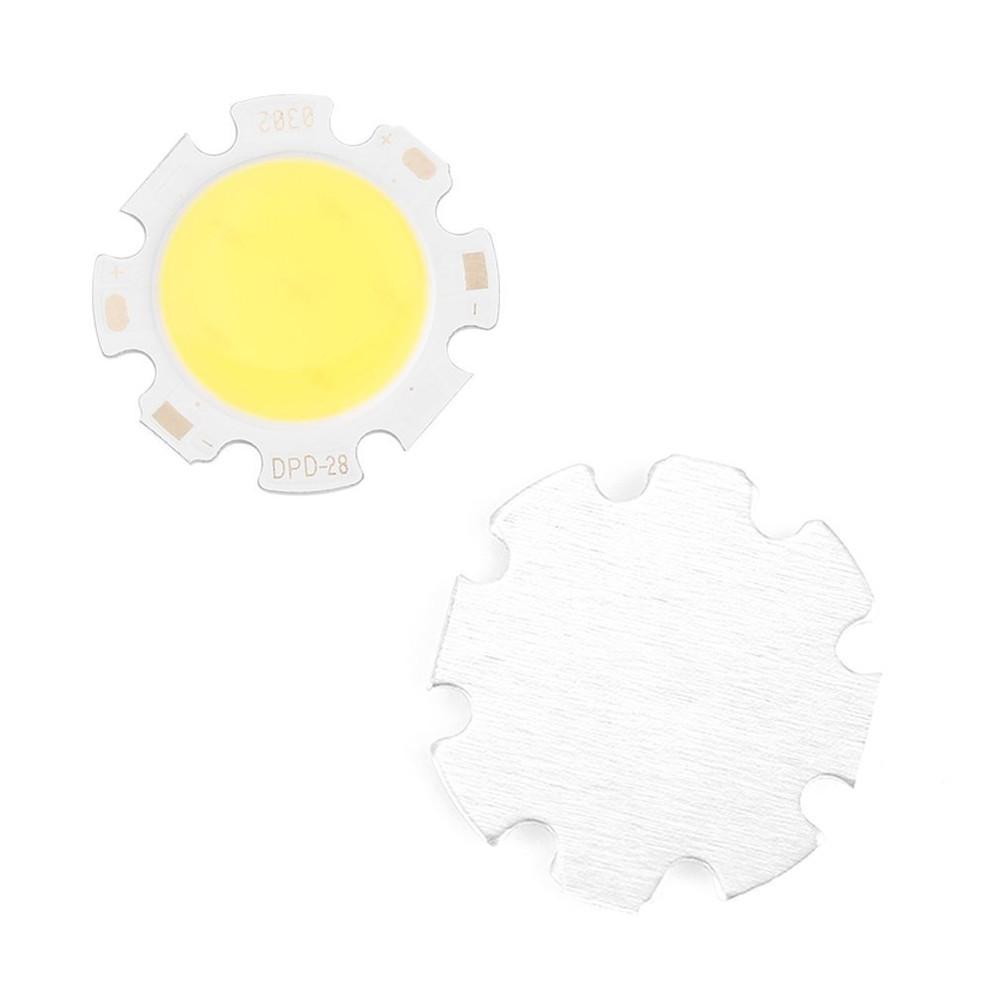 5PCS 3W-12W Pure White Round COB Super Bright LED SMD Chip Light source Board WARM WHITE 3W