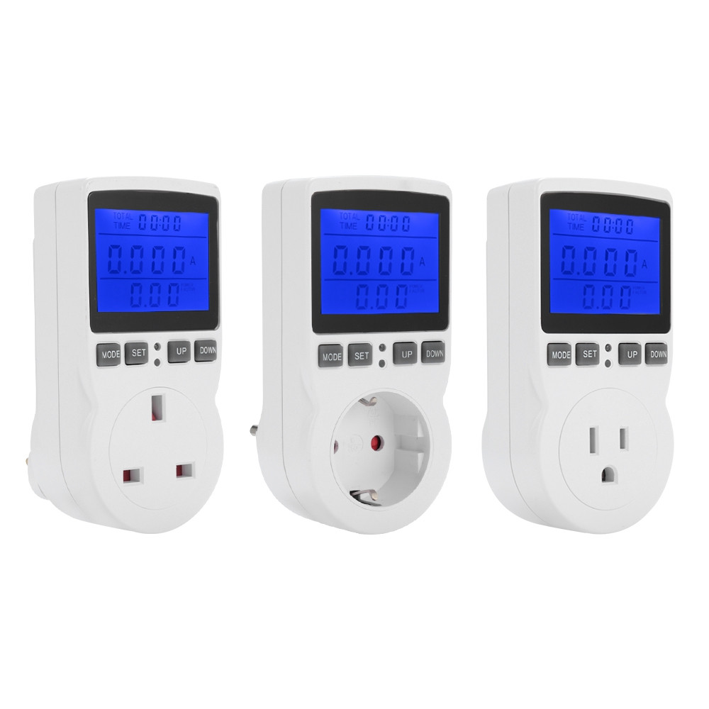 Power Meter Socket Electricity Monitor with Backlight Display