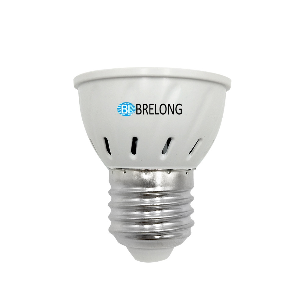 BRELONG E27 E14 GU10 MR16 54LED 2835 Plant Cup Light AC 110-130V 2pcs WHITE E27
