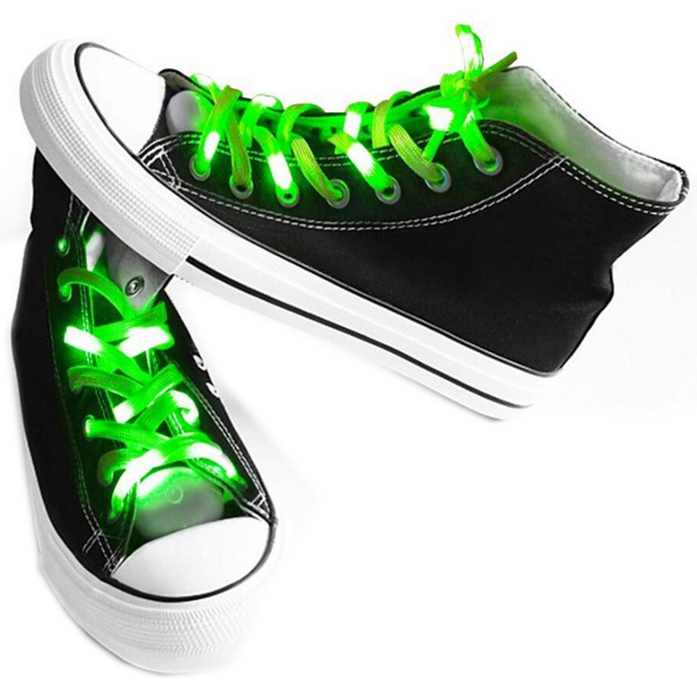LED Shoelaces for Party Dancing Hip Pop Running Decorations GREEN