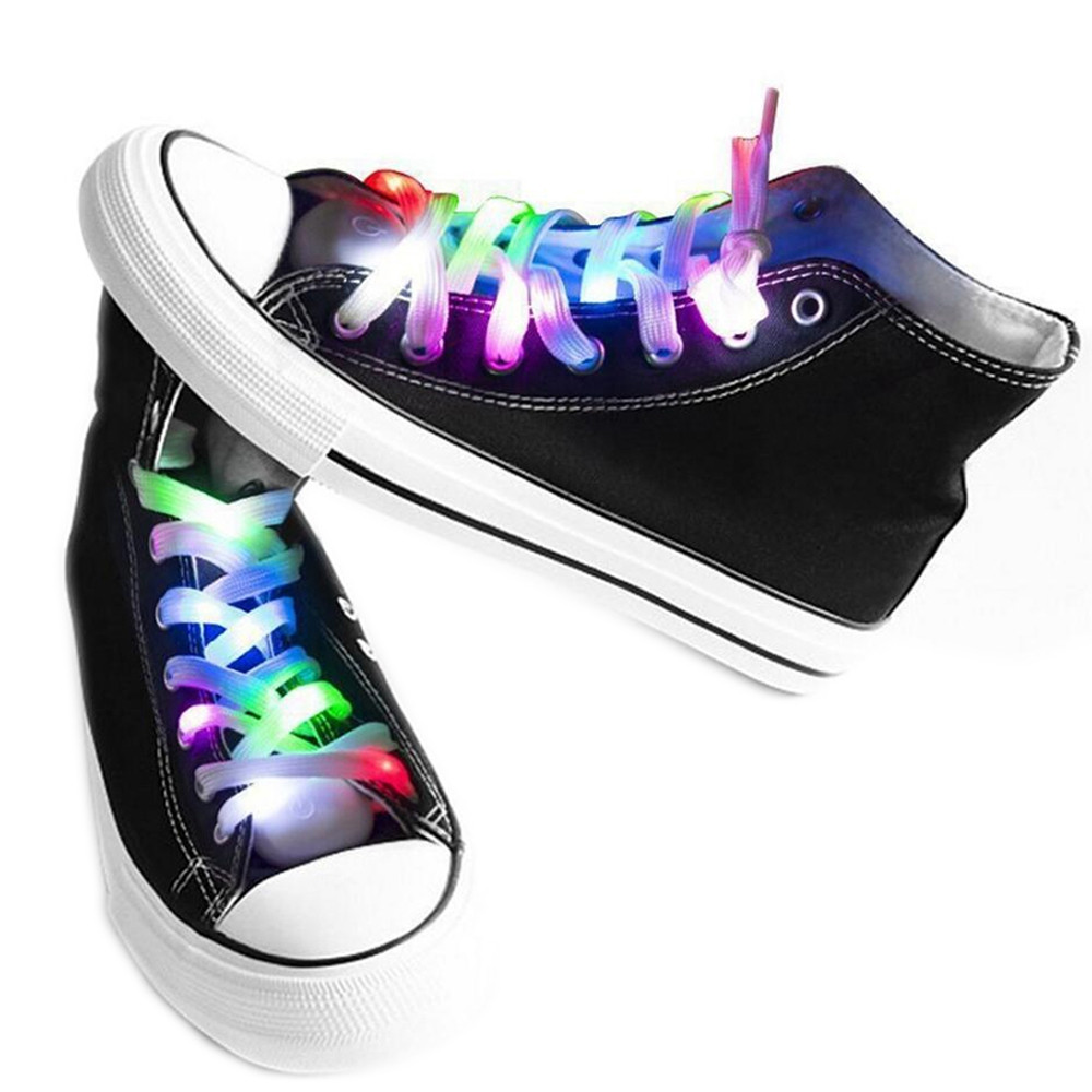 LED Shoelaces for Party Dancing Hip Pop Running Decorations MULTI-A