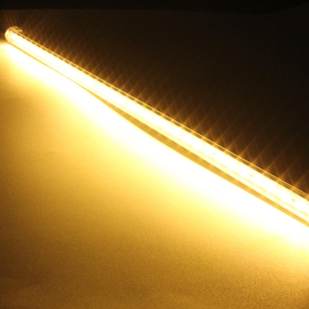 ZDM 50-100CM  V Shape 90 Degree 5730 Double Row LED Hard Light Bar   DC12V WARM WHITE 50CM