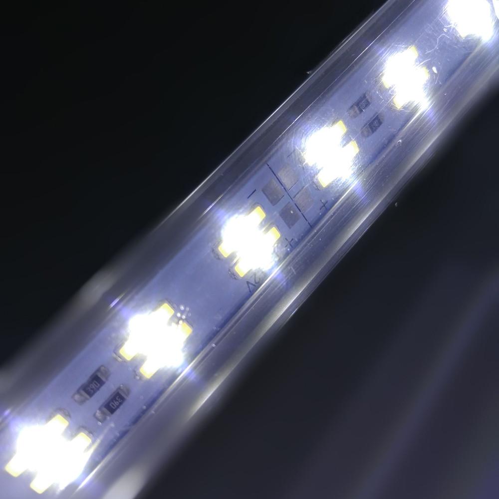 ZDM 50-100CM  V Shape 90 Degree 5730 Double Row LED Hard Light Bar   DC12V COOL WHITE 50CM