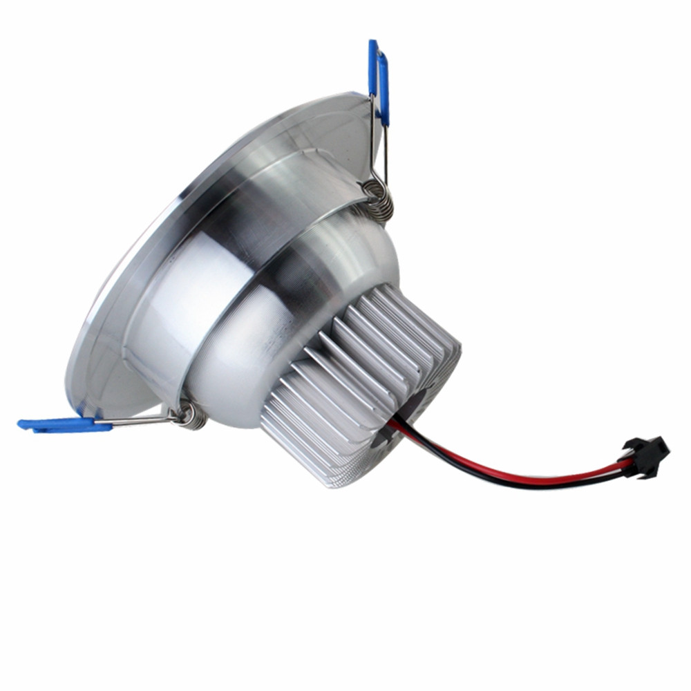 ZHISHUNJIA 2.5inch 3W SMD 5730 12LED Dimming Embedded Down Lamp - 3000K 4500K 6000K SILVER
