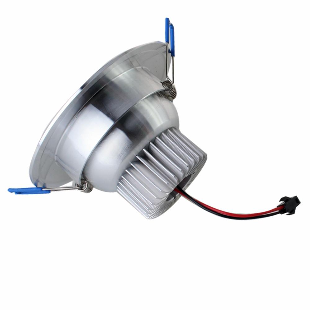 ZHISHUNJIA 12W SMD 5730 24 LED 960LM LED Embedded Down Light- AC 85 - 265V SILVER 3000K-3500K