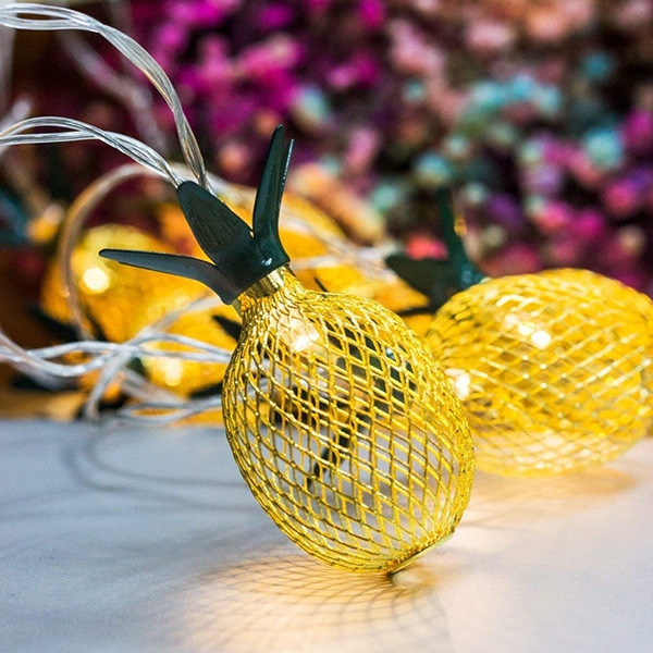 1.5m 10-LED Pineapple String Light for Birthday Party Wedding WARM WHITE