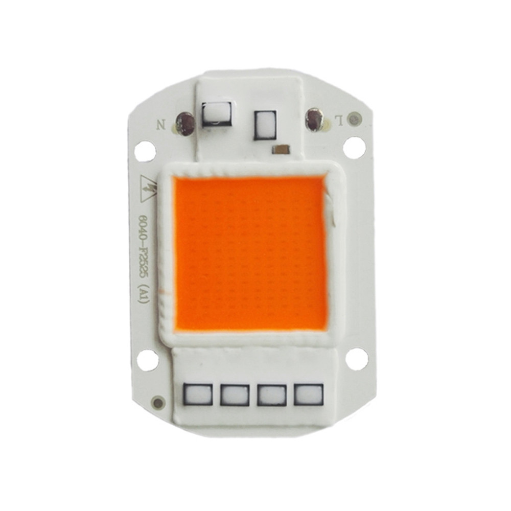 50W 220V LED Full Spectrum Led Chip Grow Light Growth Garden Hydroponic Plant GREY AND ORANGE 60MM*40MM
