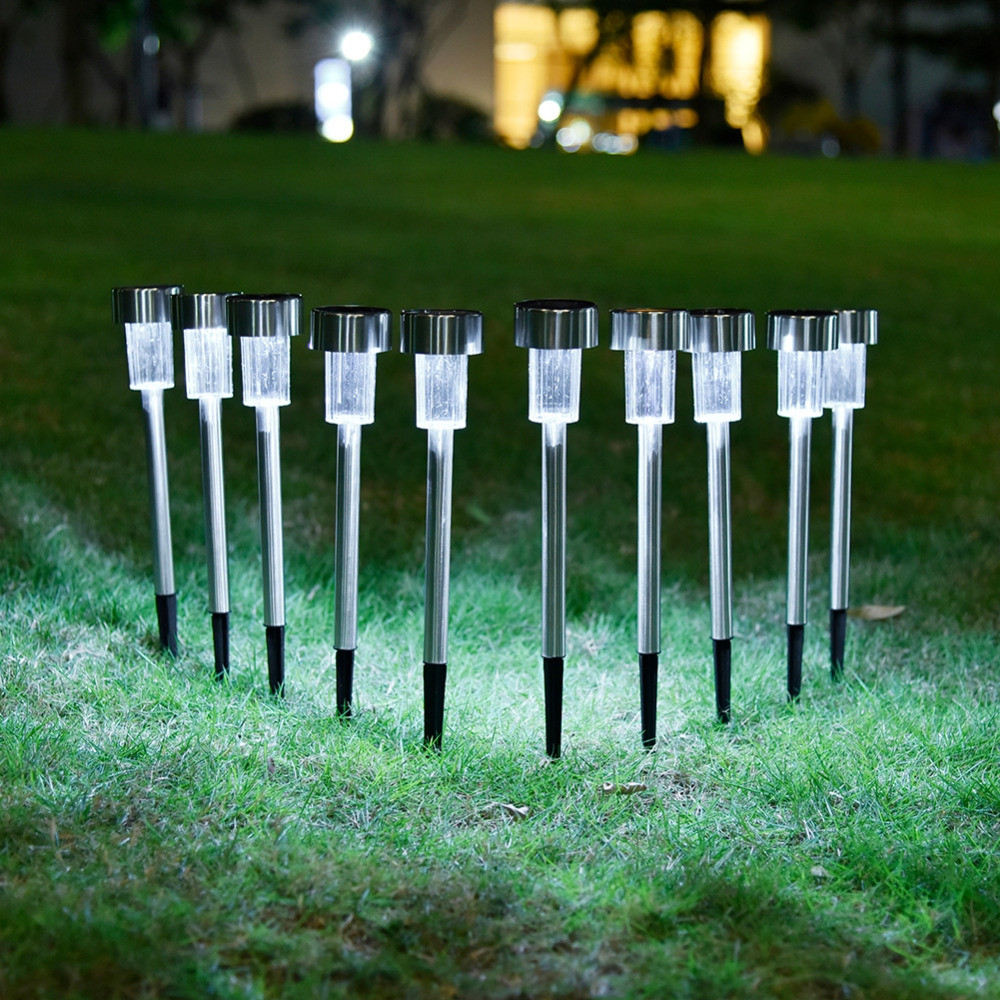 OMTO 5/10 PCS Led Solar Light for Garden Decoration Waterproof  Lawn Lights COOL WHITE 10PCS