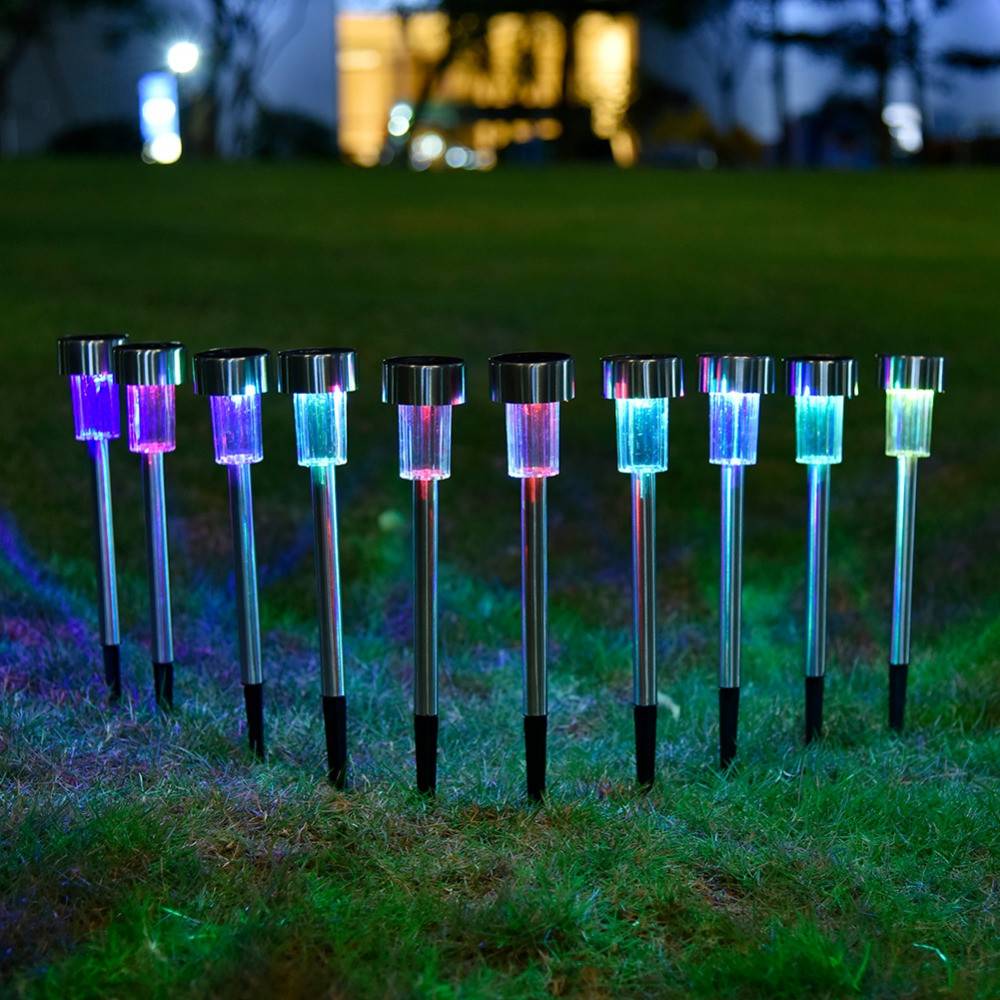 OMTO 5/10 PCS Led Solar Light for Garden Decoration Waterproof  Lawn Lights MULTI-A 10PCS