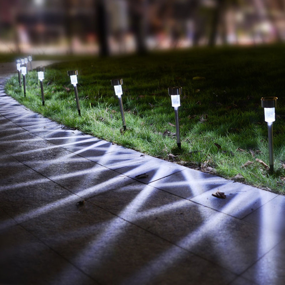 OMTO 5/10 PCS Led Solar Light for Garden Decoration Waterproof  Lawn Lights COOL WHITE 5PCS