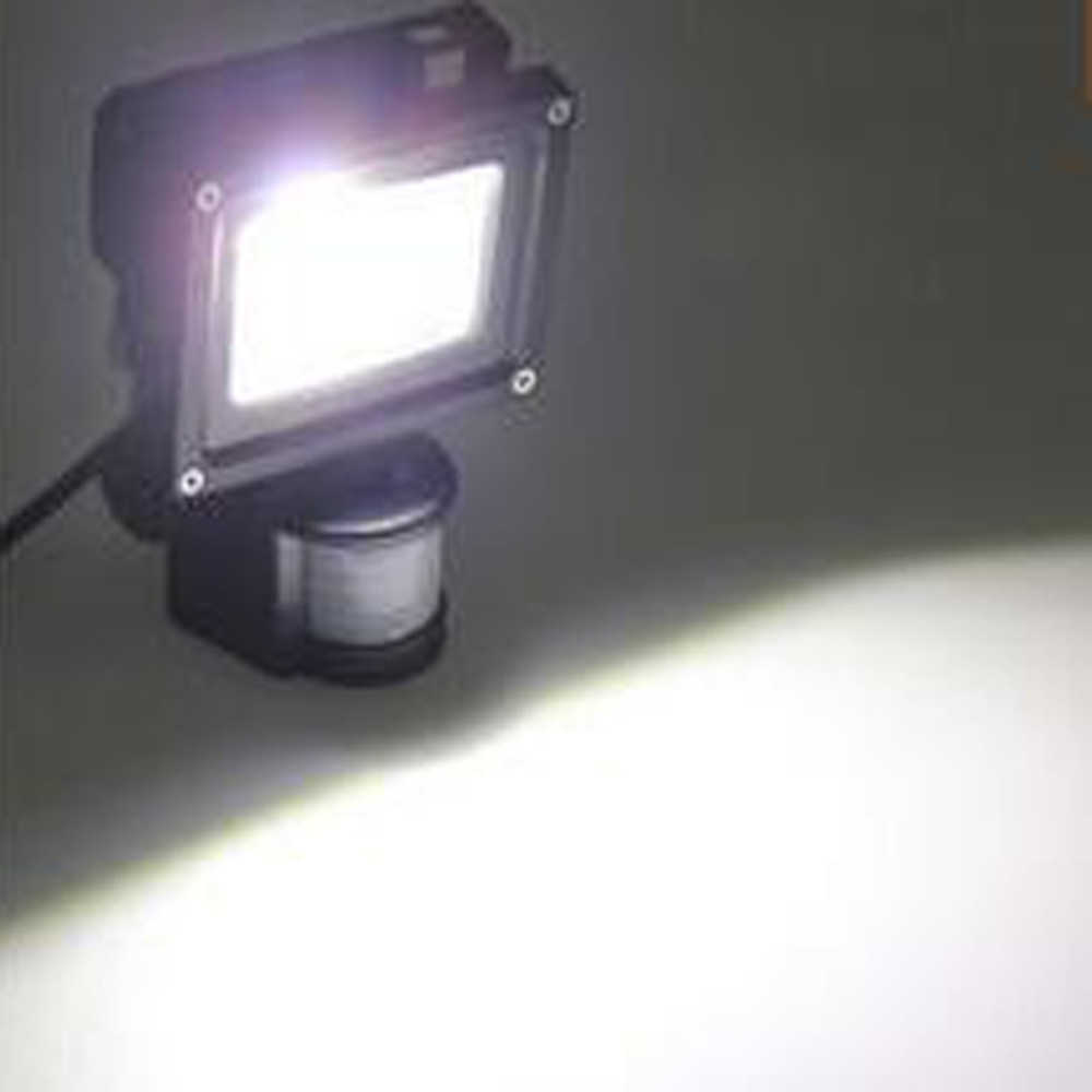 10W Waterproof 800LM PIR Motion Sensor Security LED Flood Light 85-265V WHITE 6000 - 6500K