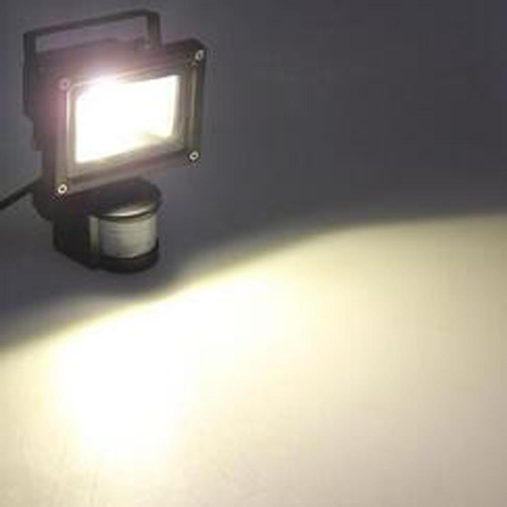 10W Waterproof 800LM PIR Motion Sensor Security LED Flood Light 85-265V WARM WHITE 3000K-3500K