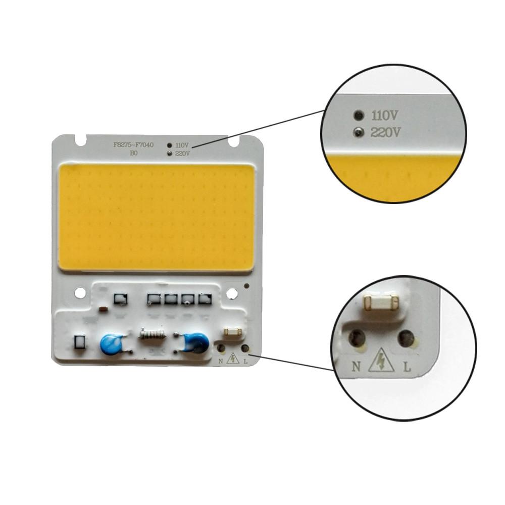 50W DIY COB LED Light Chip for Flood Light AC220V White Warm White WARM WHITE 3000K-3500K