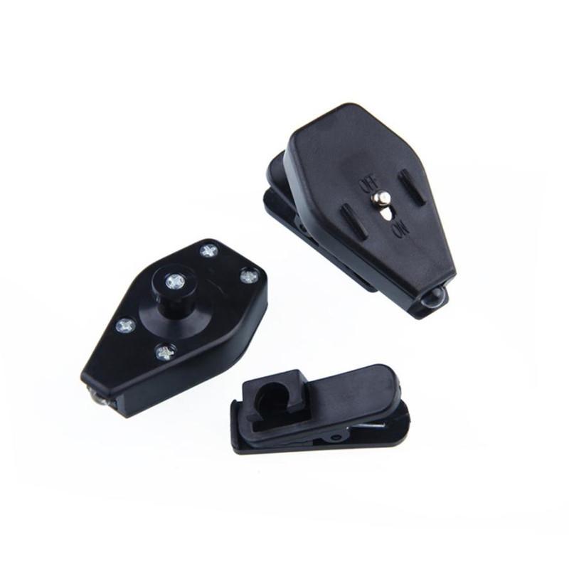 2PC Portable Clip On Eye Glasses Light Magnifier Reading LED Magnifying Glass BLACK
