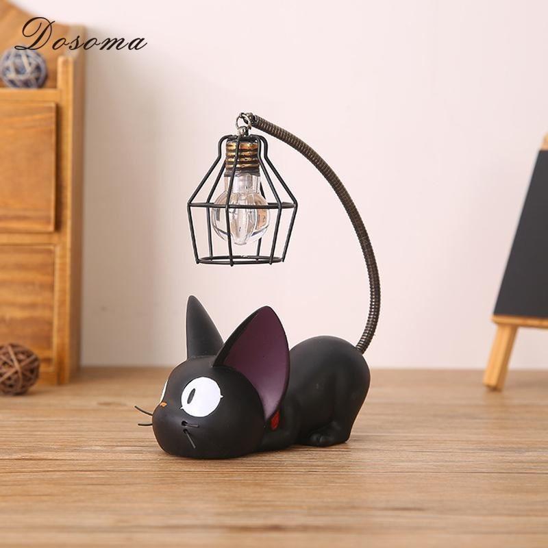 Mini Cute Black Cat Night Light Table Lamp Home MULTI-B