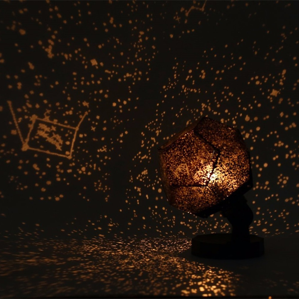3D Night Sky Projector Revolving Light Romantic Starry Christmas Kids Lamp BLACK
