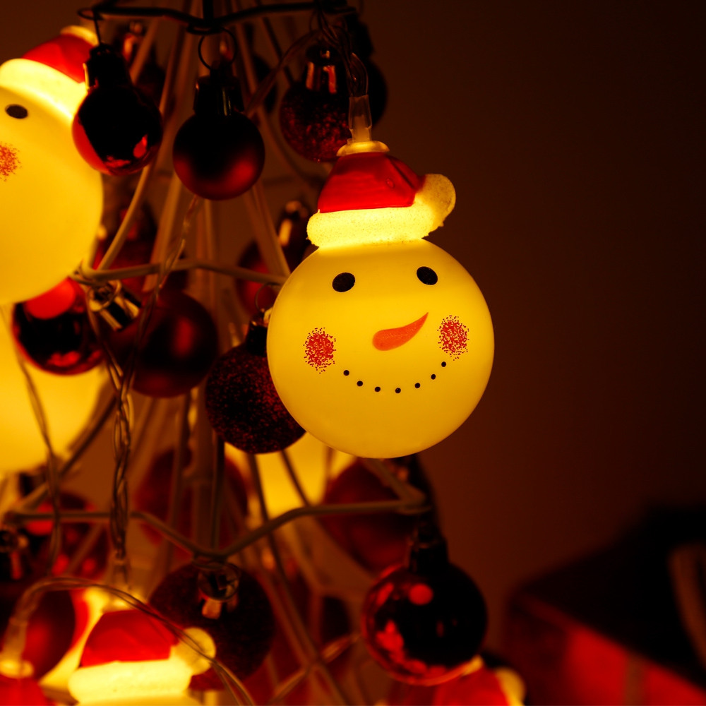 2.2M 20 LEDs Snowman Light String Lamp for Christmas Home Party WARM WHITE