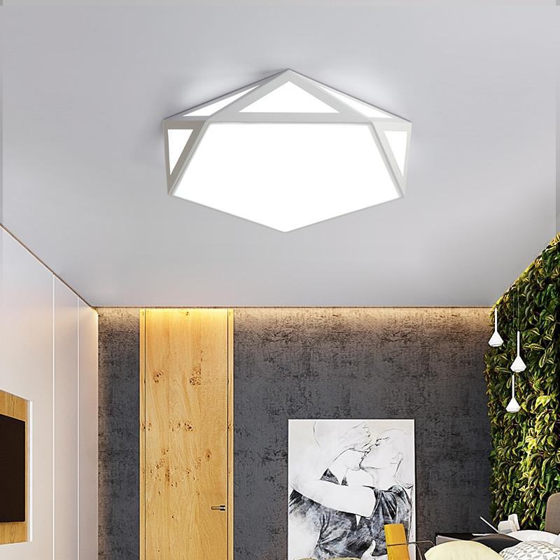 18W LED Ceiling Light Dimmable Flush Mount Lamp AC110V WHITE 6000-6500K