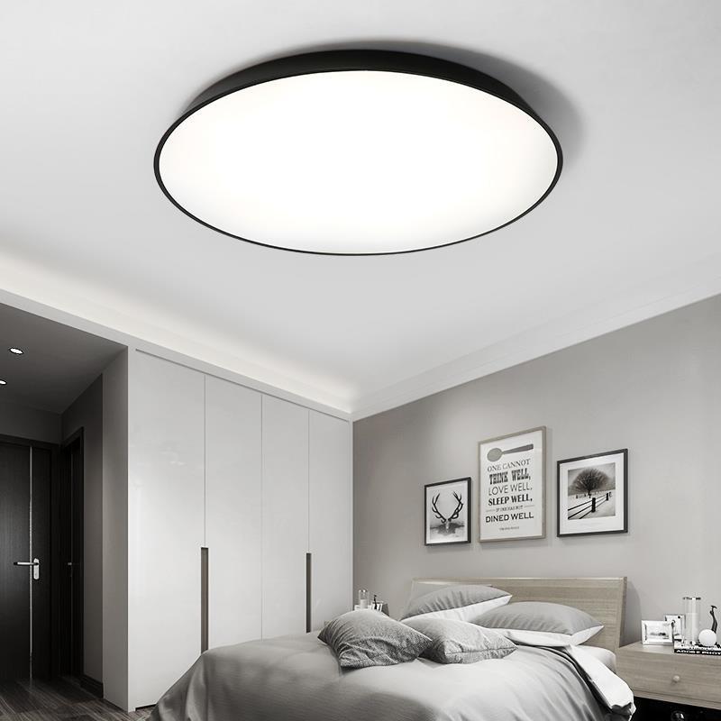32W Modern LED Ceiling Light Sumper Thin Flush Mount Lamp 110V BLACK 4000K-4500K