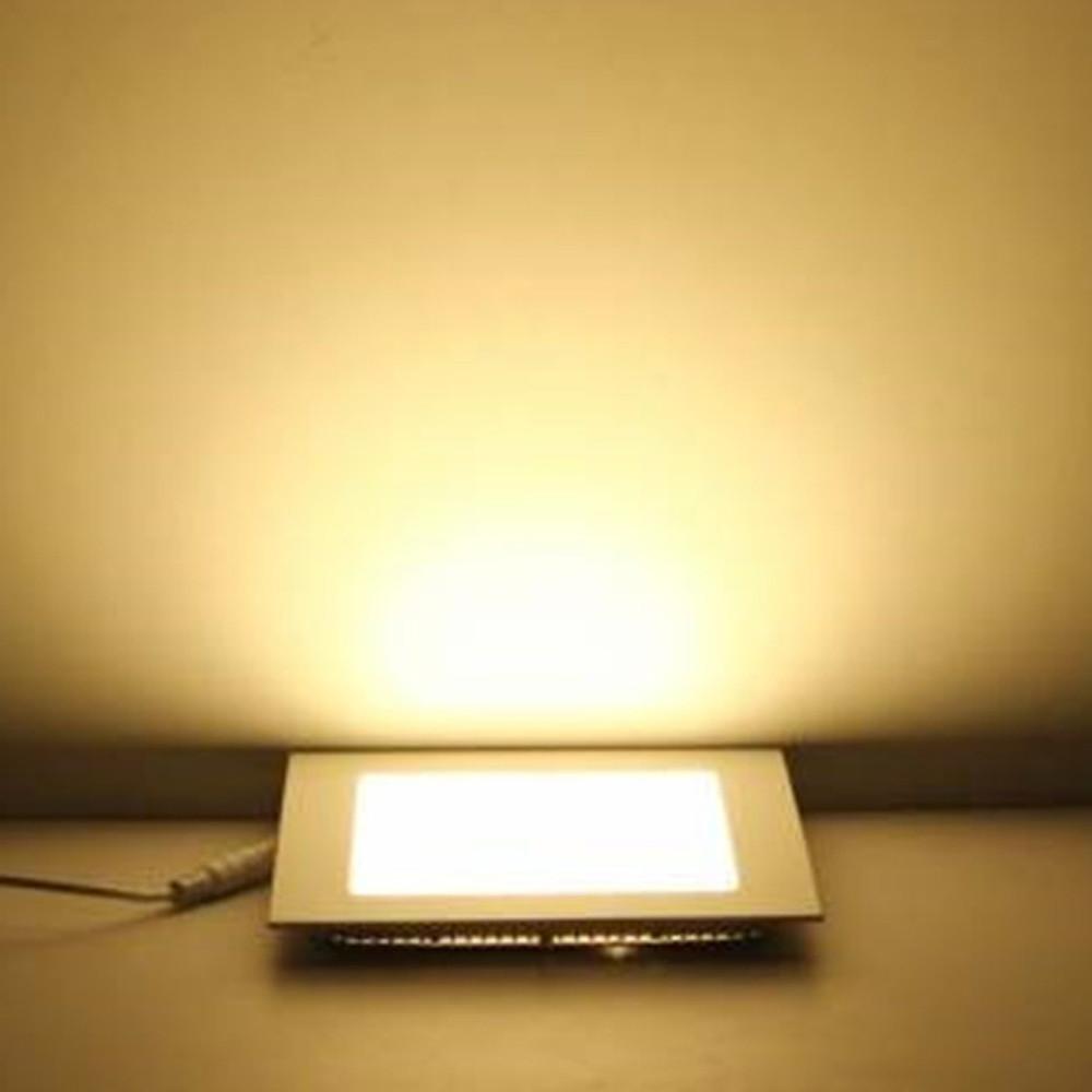 Square Shaped Ultra-thin Panel LED Panel Light AC85-265V WARM WHITE 12W