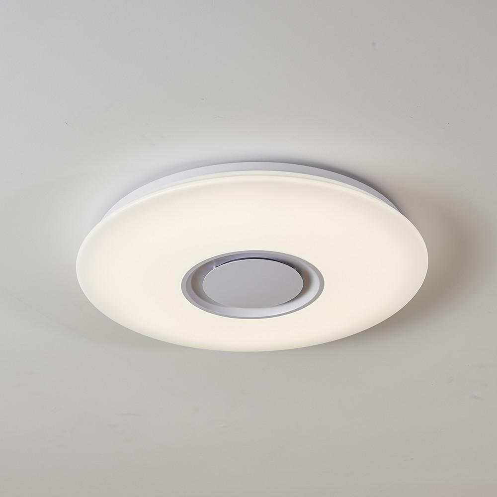 CQ-GE24QB-GS Smart Music Bluetooth Roof Lighting Bedroom Lamp APP 24W Round WHITE 1PC