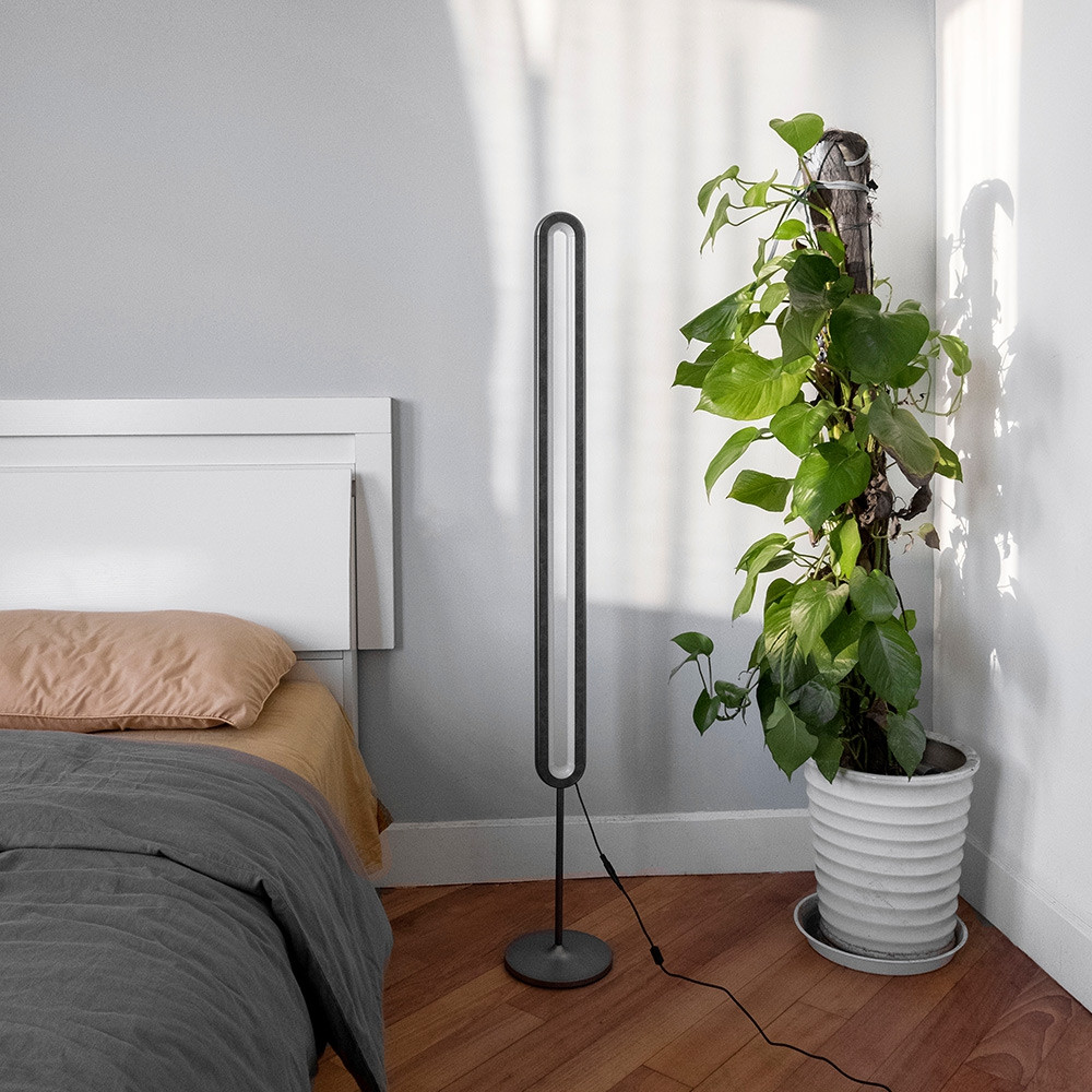 Allocacoc LED Floor Lamp Dimmable Standing Light DARK GRAY CHINESE PLUG (3-PIN)