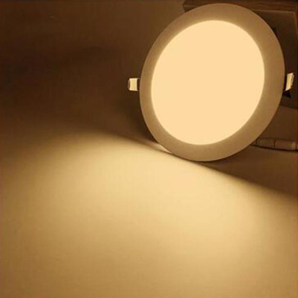Round Ultra-thin Panel LED Panel Light AC85-265V WARM WHITE 3W