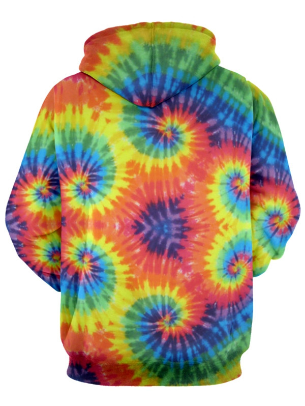 Colorful Tie Dye Long Sleeve Hoodie MULTI XL