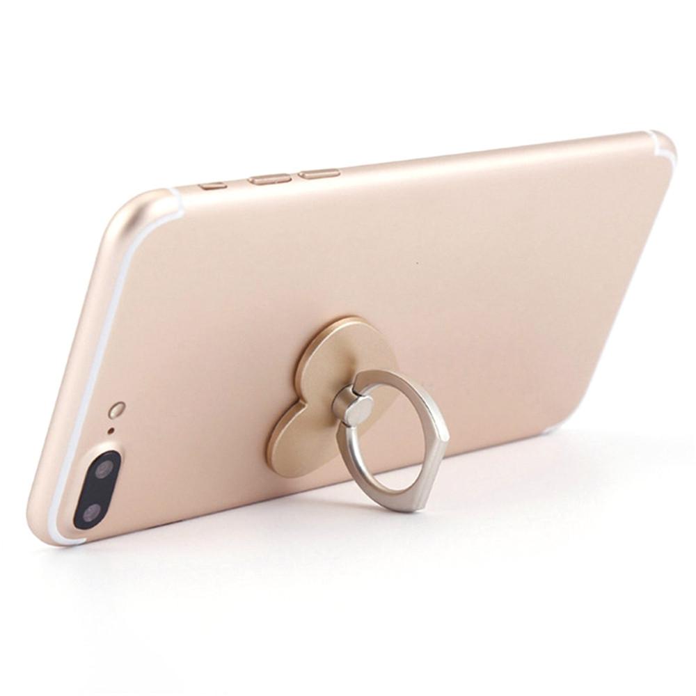 360 Degree Rotating Heart Shape Cell Phone Finger Ring Holder Stand