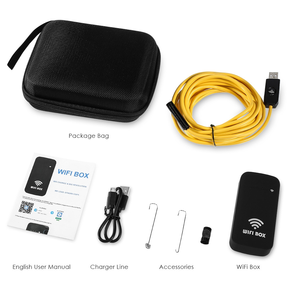 33 feet Endoscope WiFi Borescope for Phones and Tablets