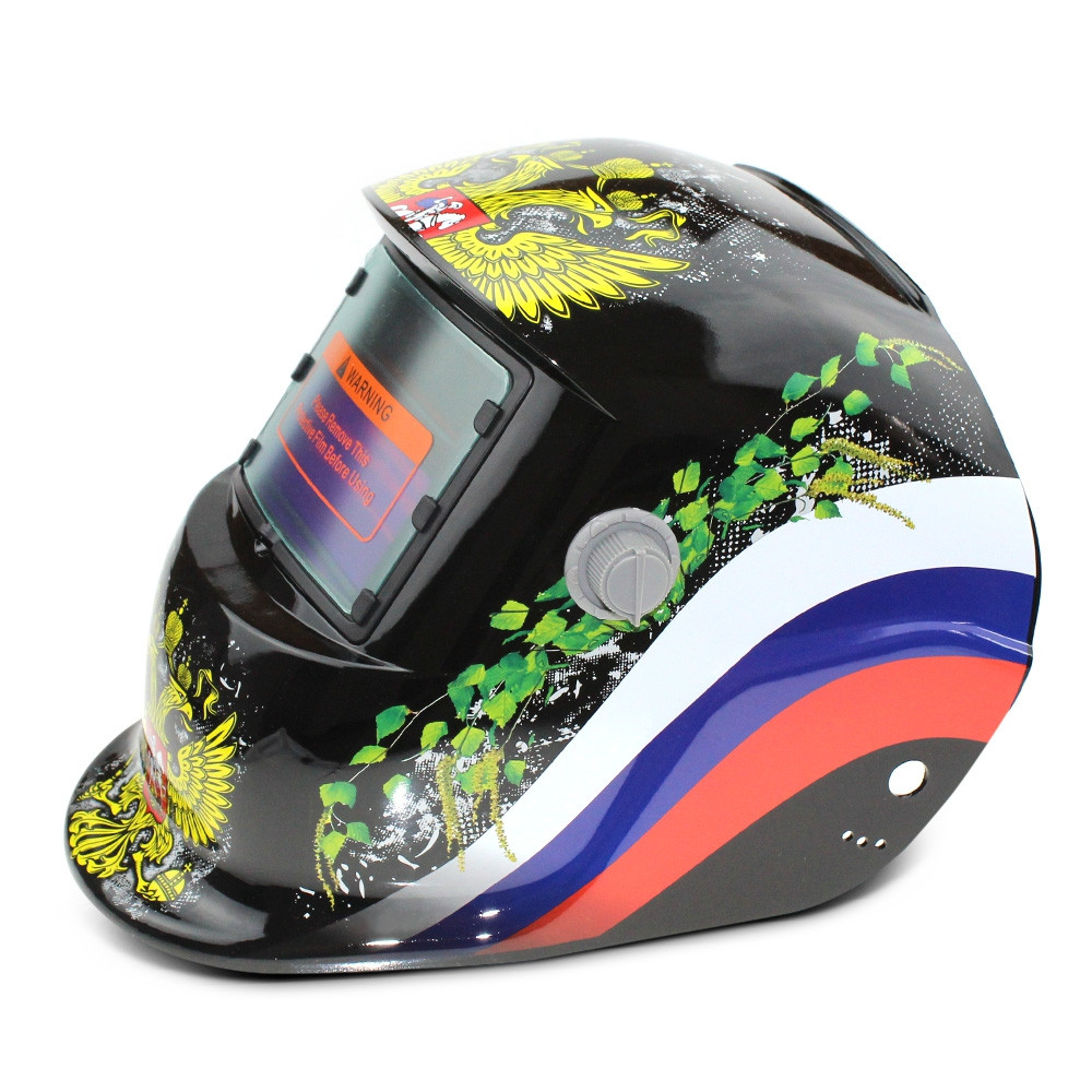 Double-headed Eagle Pattern Automatic Variable Light Electric Welding Protective Mask