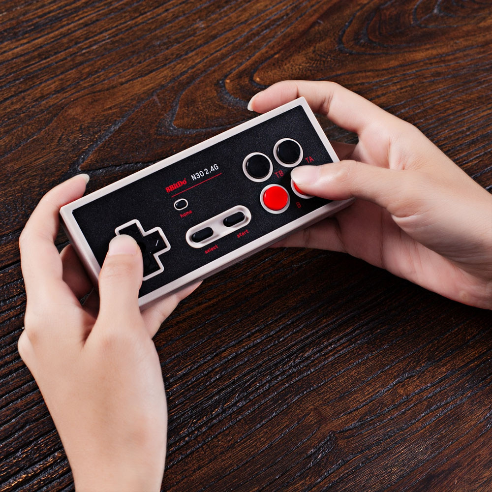 8Bitdo N30 2.4G Retro Wireless Controller Gamepad with Bluetooth Receiver.