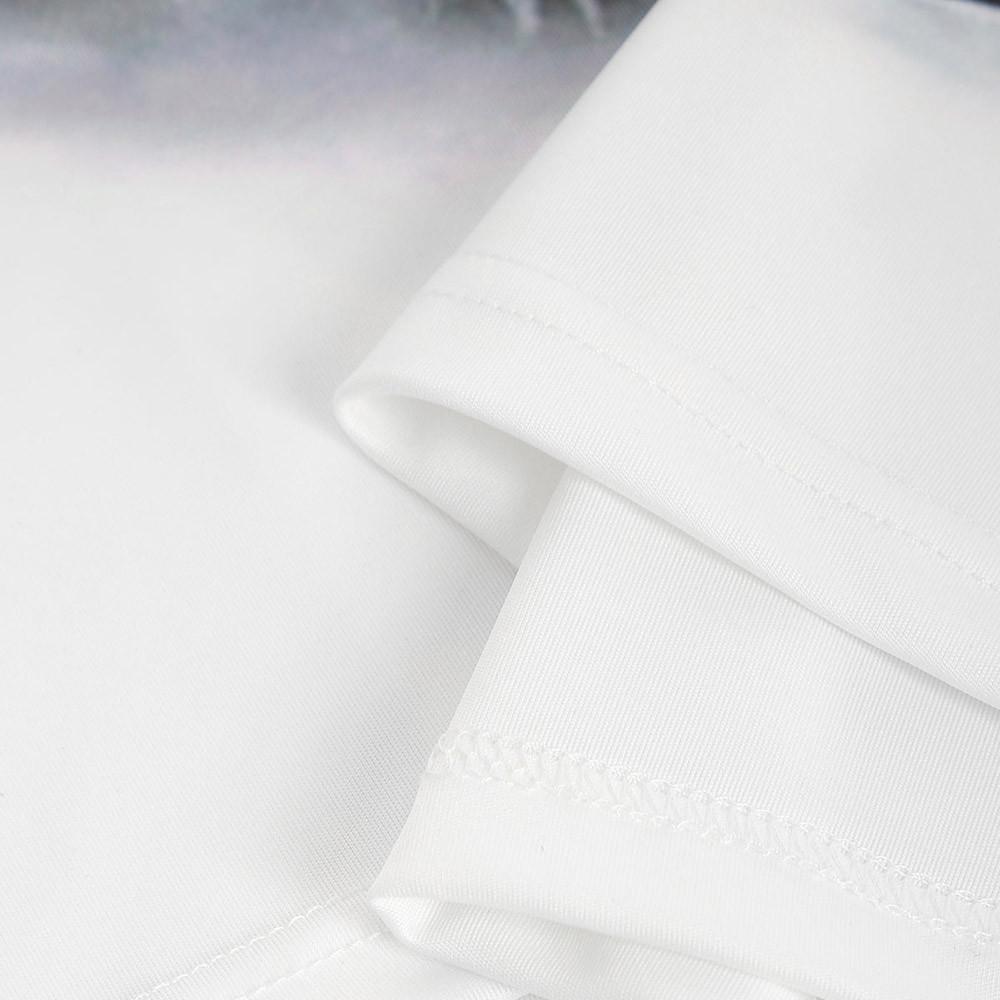 Skeleton 3D Print Tee WHITE XS