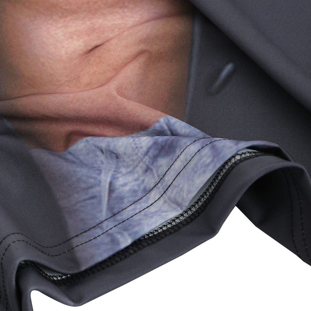Muscle 3D Print Tee DARK GRAY XS