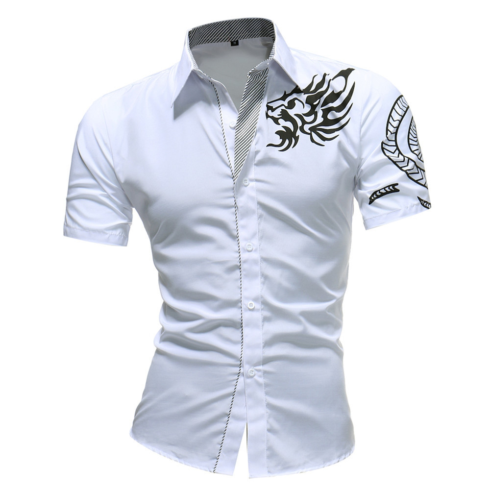 Spring Autumn Features Shirts New Arrival Long Sleeve Casual Slim Fit Male Shirt WHITE XL