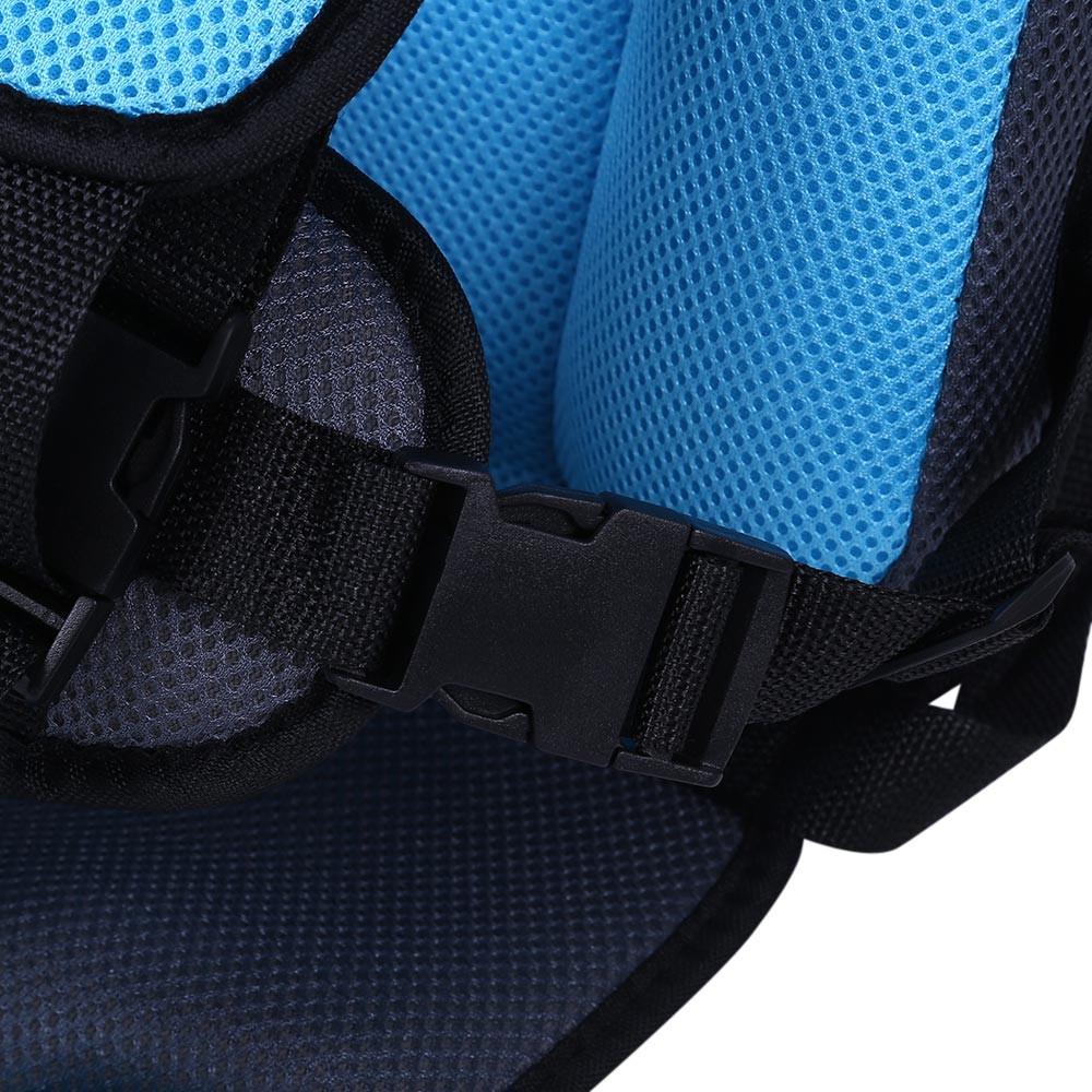 Mumugongzhu Kids Safety Thickening Cotton Adjustable Children Car Seat LIGHT BLUE
