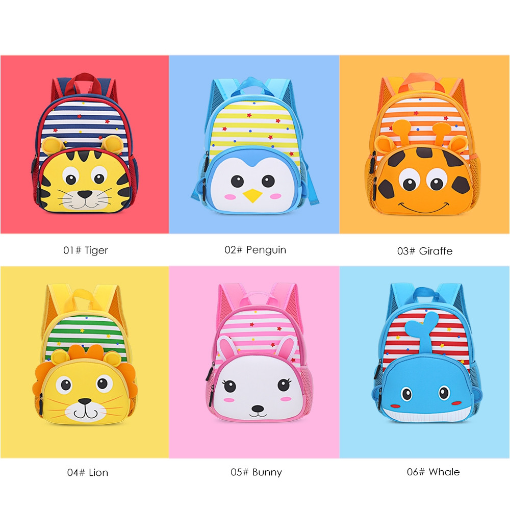 TongChang Cute Kid School Bag 3D Cartoon Print Backpack 01#