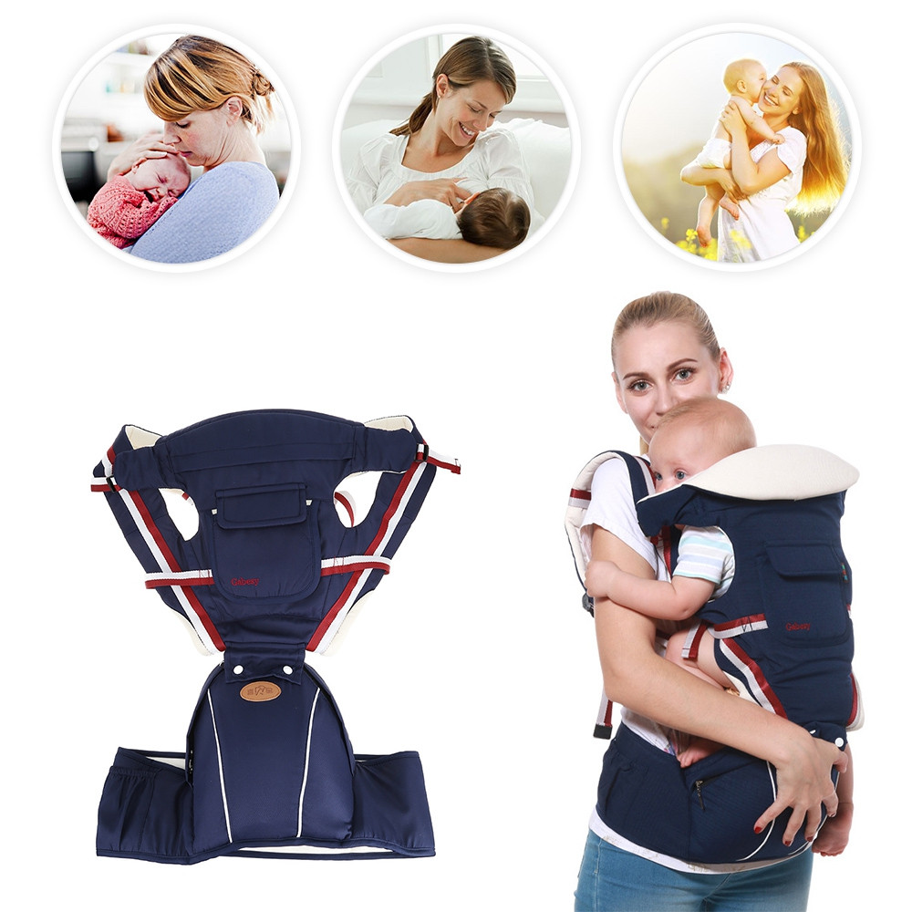 Breathable Sling Baby Carrier with Waist Stool DEEP BLUE