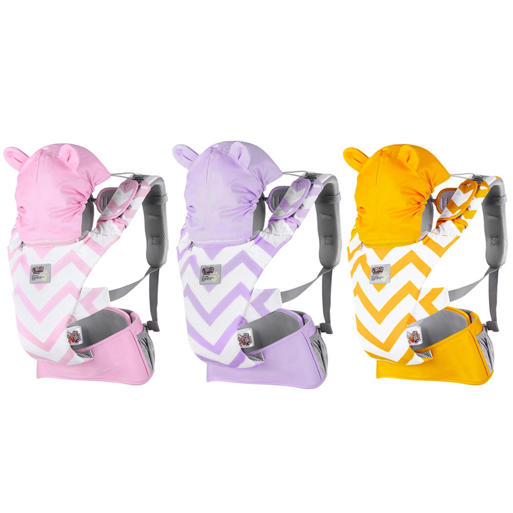 Bethbear BS1806 Breathable Baby Carrier Infant Comfortable Wrap Sling Backpack PIG PINK