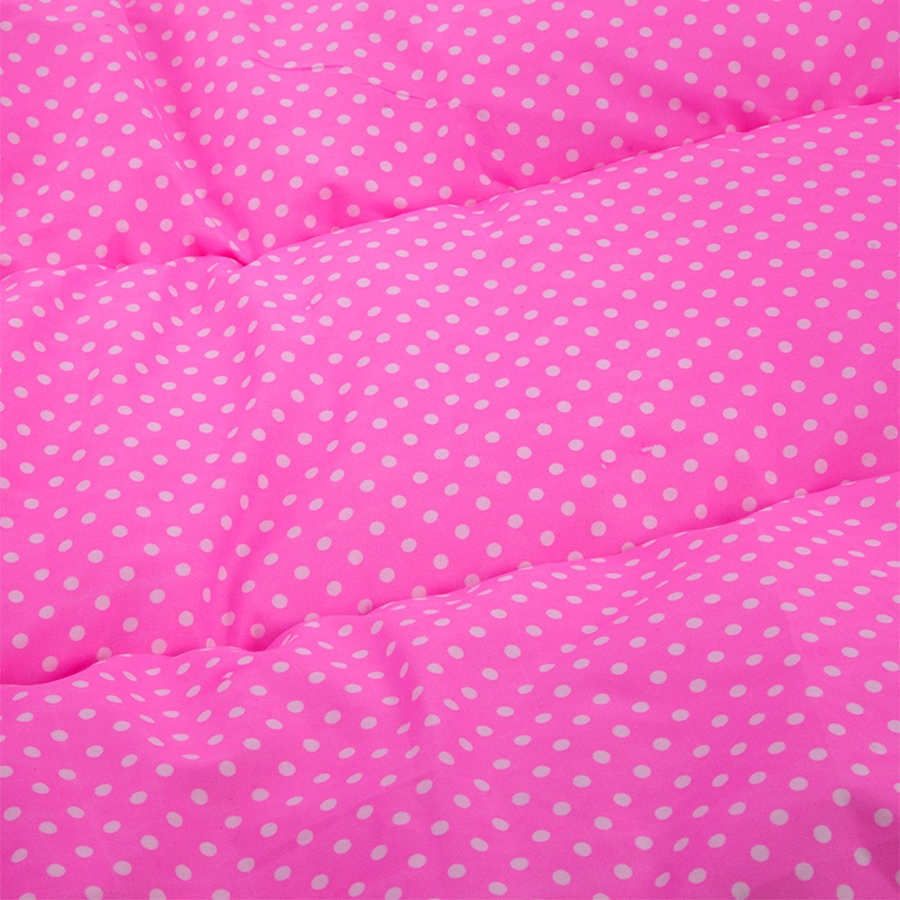 4pcs Babies Mattress Pillow Portable Foldable Crib with Mosquito Net PINK COMMON VERSION